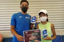 Lara Angles y Lucas Belas, Campeones Torneo Padres e Hijos Telepizza Nivel 3