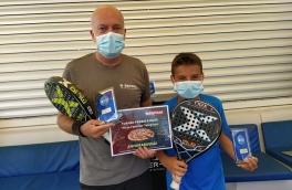 David Sanchez y Carlos Sanchez, Campeones Torneo Padres e Hijos Telepizza Nivel 4