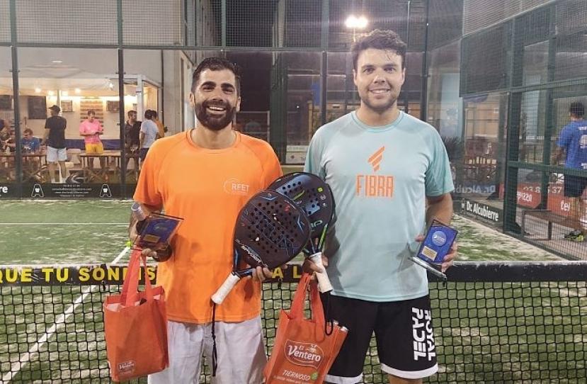 Uri Martí y Gerard Palacios, Campeones Consolación Torneo Mascuino Plata Premium