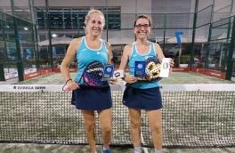 <p>Patricia Cornelles y Nuria Giralt, Campeonas Torneo Femenino 4ª Categoría</p>
