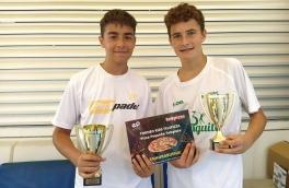 <p>Alex Navarro y Didac González, Campeones 9º Torneo Circuito Telepizza Nivel 3</p>