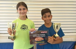 <p>Eloy Tapia y Gemma Castellví, Campeones 9º Torneo Circuito Telepizza Nivel 2</p>