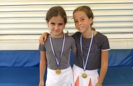 <p>María Garrido y Daniela Ceballos, Campeonas Consolación 9º Torneo Circuito Telepizza Nivel 2</p>
