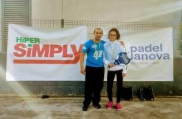 Rocío Cantón y Alejandro Bajo, campeones de nivel 1 en el Torneo de Adultos y Menores