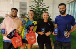 <p>Cristina Blanco y Marc Navarro,Campeones Consolación Torneo Mixto 3ª Categoría</p>