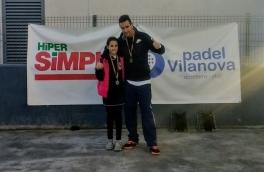 Judith Contreras y Javier Contreras, campeones de categoría Baby en el Torneo de Adultos y Menores