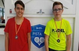 César Gómez y Albert Ortega, subcampeones del Torneo de Menores de Nivel 2