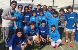 El Equipo Masculino de Menores del Club Padel Vilanova, Subcampeón de Catalunya 2017, 1ª categoría.
