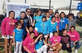 El Equipo Femenino de Menores del Padel Vilanova, 3ª en el Campeonato de Catalunya 2017, 1ª categoría.