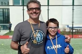 Pol Farràs y Marc Farràs, campeones del Torneo Niños y Adultos Nivel 4