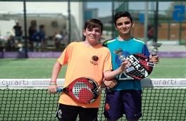 Axel Fernández y Javier Manzano, Campeones del Torneo Kids Padel Tour Nivel 3