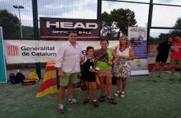 Laura Sánchez y Aina Hermedia, Campeonas Benjamín Femenino del V Super Gran Slam FCP