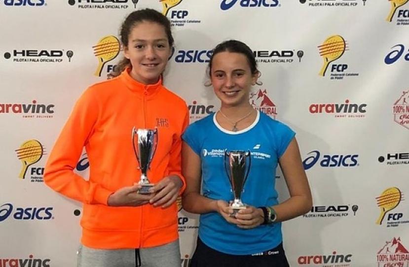Nerea Torres y Ana Garcia, Campeonas de Cataluña categoría consolación infantil femenino