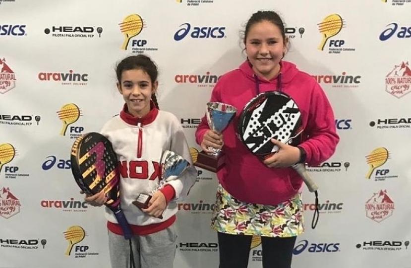 Laura Sanchez y Aina Hermida, Campeonas de Cataluña categoría benjamín femenino