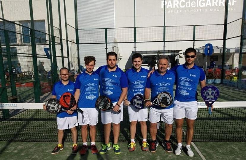 Victoria del Club Padel Vilanova Padelcat Masculino por 3-0 frente al CEM Espai Blau