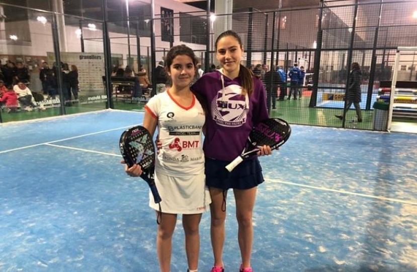 Claudia Sánchez y Noa Cánovas, Campeonas I Gran Slam de Menors-Indoor Granollers Categoría Cadete Femenino