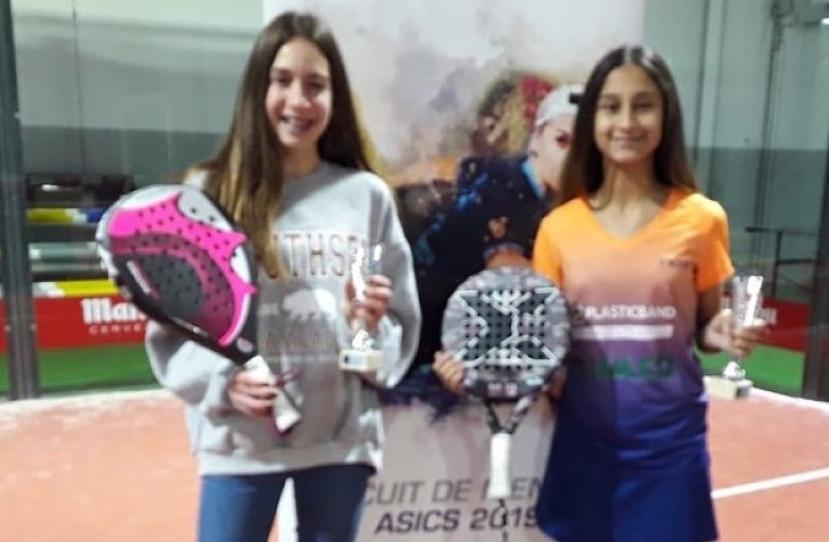 Anna Ortíz y Alexandra Torralba Campeonas I Gran Slam de Menors-Indoor Granollers Categoría Infantil Femenino