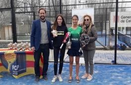 Anna Ortíz y Alexandra Torralba Campeonas II Gran Slam de Menors-Prat LLobregat categoría infantil femenino