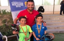 Enzo Ceballos y Pol Sánchez  Campeones II Gran Slam de Menors-Prat LLobregat categoría benjamín masculino