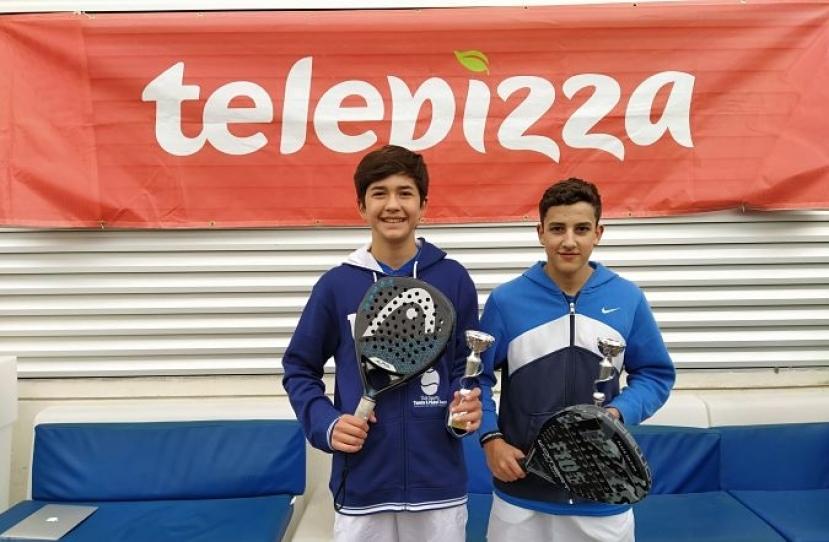 Guillermo Hernandez y Pol Iniesta, Campeones 2º Torneo Circuito Telepizza Nivel 4