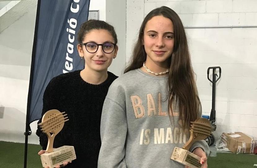 Nerea Torres y Claudia Fornos, Campeonas de Cataluña Consolación Infantil Femenino