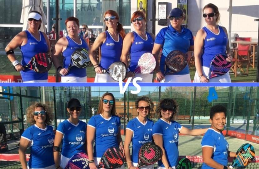 Derbi entre el Club Padel Vilanova Padelcat Femenino D y el Club Padel Vilanova Padelcat Femenino C