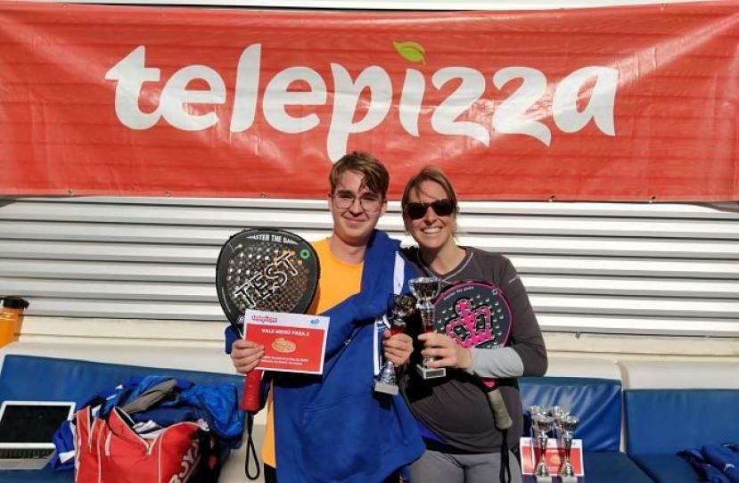 Manel Puig y Cristina Boira, Campeones Torneo Padres e Hijos Nivel 4