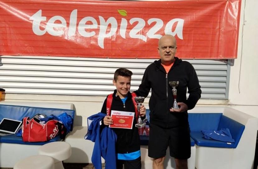 David Sanchez y Carlos Sanchez, Campeones Torneo Padres e Hijos Nivel 3