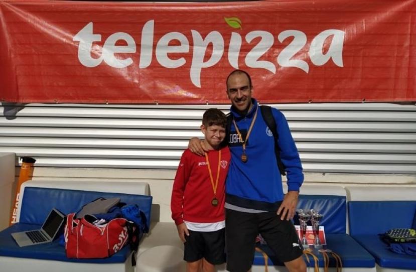Xavi Hernandez y Pere Hernandez, Campeones Consolación Torneo Padres e Hijos Nivel 4