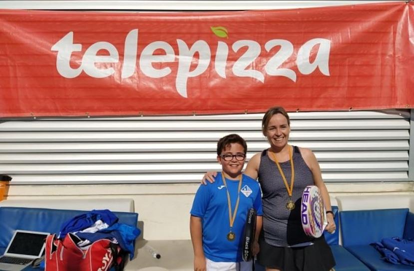 Gerard Aguilar y Nuria Font, Campeones Consolación Torneo Padres e Hijos Nivel 3