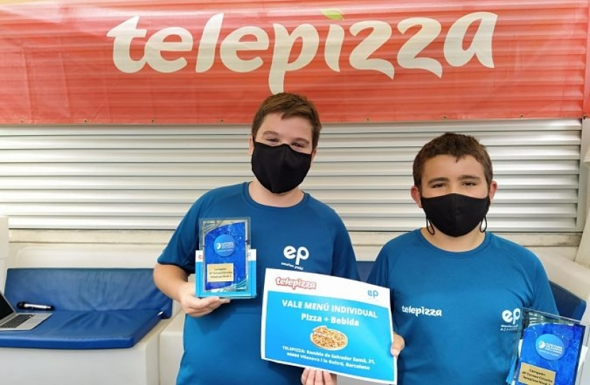 Jordi Arcos y Andreu Belzunce, Campeones 4º Torneo Circuito Telepizza Nivel 2