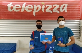Arnau Mas y Arnau Gallego, Campeones 4º Torneo Circuito Telepizza Nivel 3