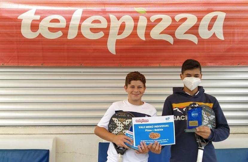 Xavi Hernandez y Alex Chacon, Campeones 4º Torneo Circuito Telepizza Nivel 4