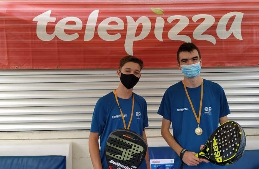 Ivan Tapies y Biel Novella, Campeones Consolación 4º Torneo Circuito Telepizza Nivel 4
